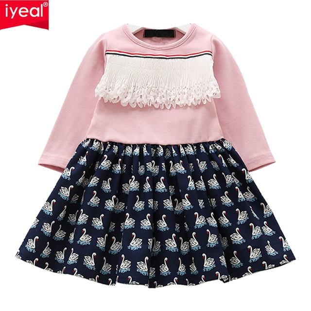 44d043479 IYEAL Newest Princess Girls Dress 2018 Brand Children Baby Girl Long ...