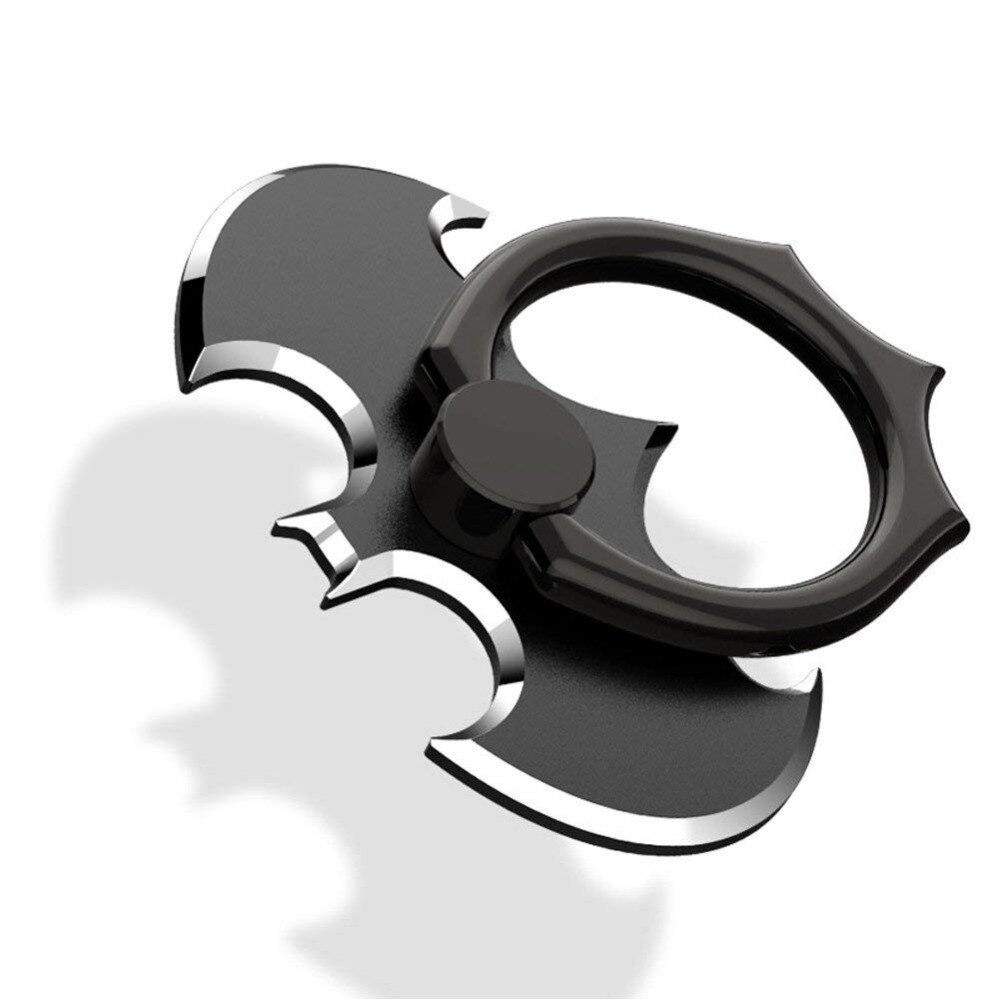 Phone Finger Ring Holder Batman Universal 360 Rotation Cellphone Metal Stand Grip Anti-Drop Mount for iPhone Samsung Smartphones
