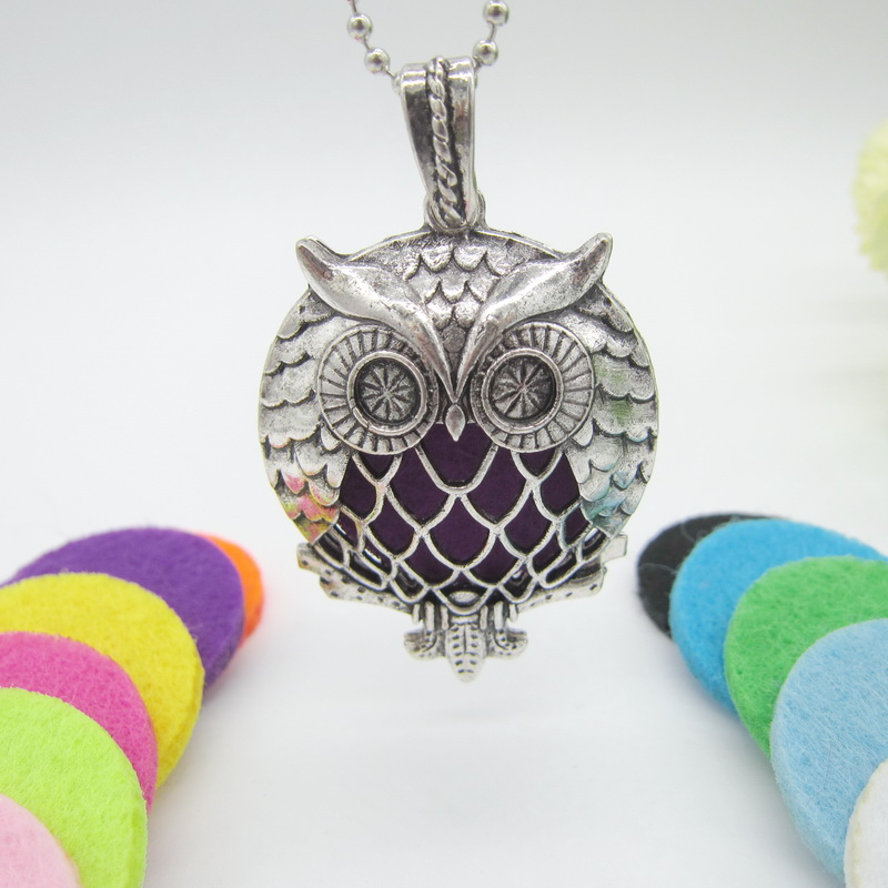 Cykopv Charming Owl Locket Pendant Necklace
