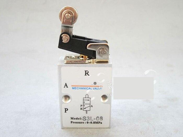 Supply AirTac genuine original mechanical valve S3L-08. airtac gr200 08 c1 series of genuine original source