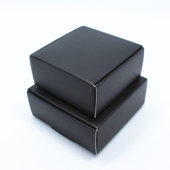 Retail 100Pcs Black Kraft Paper Jewelry Gift Pack Package Box Handmade Sope Craft Gift Party Favor Packaging Boxes New Style
