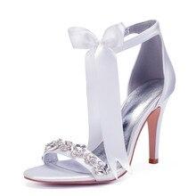 OnnPnnQ High Heels Crystals Wedding Sandals Shoes Women Ankl