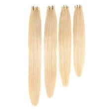 Doreen, машинное производство, Remy, водостойкие человеческие волосы для наращивания на ленте, 20 шт, 50 г/упак., шелковистые прямые волосы из ПУ кожи