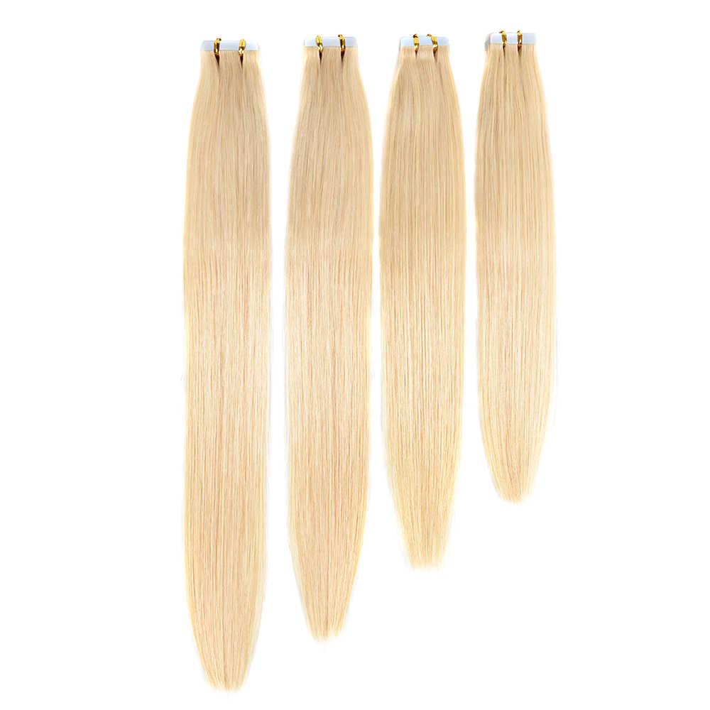 Doreen искусственные волосы одинаковой направленности водонепроницаемые ленты для наращивания человеческих волос 20 шт 50 г/упак. шелковистые прямые накладные волосы из искусственной кожи