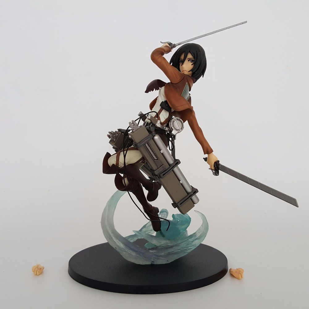 Attack On Titans Action Figure Mikasa Ackerman Attack Style Anime PVC 1/8 Attack Titan Collectible Model Toys Shingeki No Kyojin attack on titan shingeki no kyojin acrylic keychain action figure pendant car key accessories key ring jjjr006 ltx1