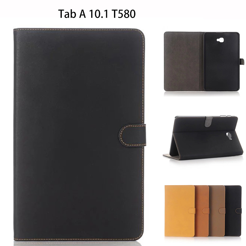 For Samsung Galaxy Tab A A6 10.1 2016 T580 T585 SM-T580 T580N Case Cover Funda Tablet Luxury business PU Leather Flip Shell fashion pu leather flip case for samsung galaxy tab a a6 10 1 2016 t580 t585 sm t580 smart case cover funda tablet sleep wake up