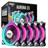 Aigo C5 5 Pack PC Computer Case Cooling Fan Cooling RGB LED 120 Mm Low Noise