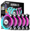 Aigo C5 5 Pack PC Computer Case Cooling Fan Cooling RGB LED 120 Mm Low Noise