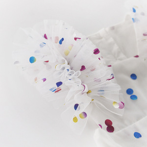 Image 5 - ฤดูร้อนเด็กสีชมพูBodysuitเสื้อผ้าเด็กHot Stampedหน้าจอเส้นด้ายผ้าฝ้ายสามเหลี่ยมHairdressเด็กBodysuits