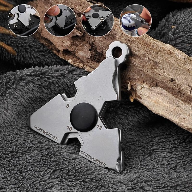 New Multi-Function Stainless Steel Outdoor Survival Tool Self Defense Glass Breaker Portable Wrench Bottle Opener Screwdriver