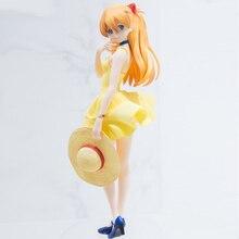 Oryginalna figura Soryu Asuka Langrey letnia sukienka PVC figurki Sexry girl kolekcja modeli toy