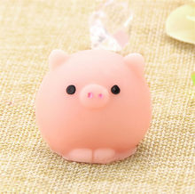 Pig Ball Squishy Slow Rising Kawaii Mini Mochi Bunny Phone Strap Squeeze Stretchy Cute Pendant Bread Cake Kids Toy Gift(China)