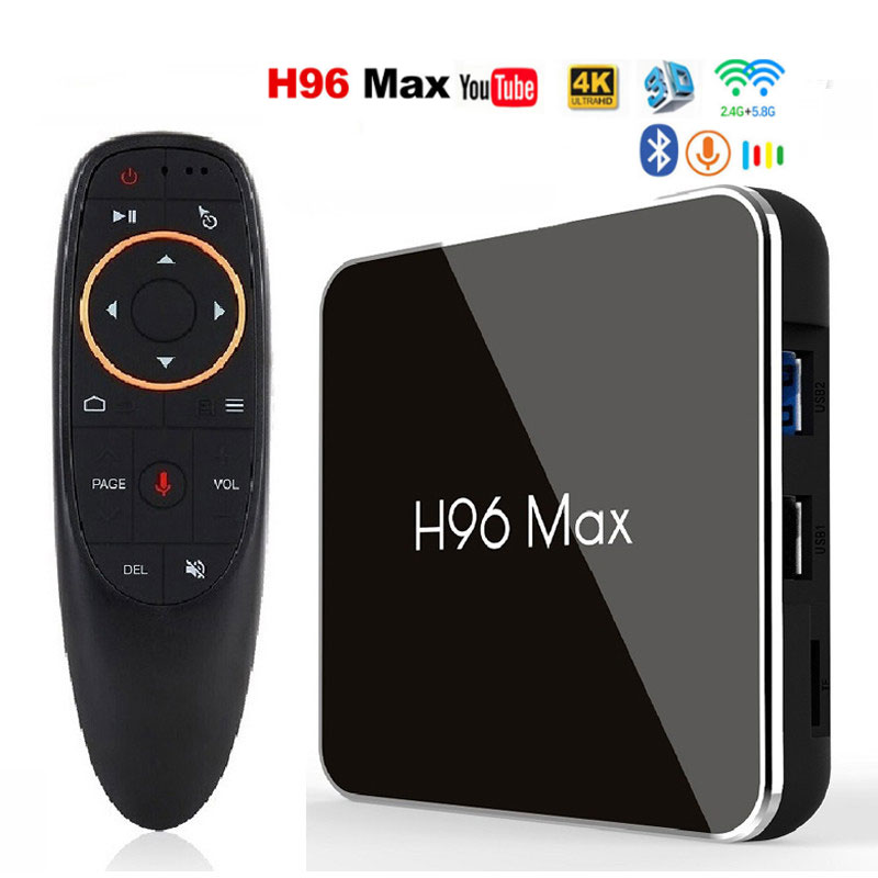H96 Max X2 Android 8.1 Smart TV BOX Amlogic S905x2 2.4G & 5.8G Wifi BT4.0 H96Max 4GB 64GB lecteur multimédia Android décodeur Youtube