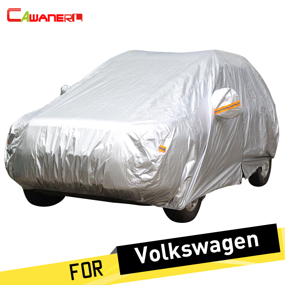 Cawanerl Car Cover Auto Anti UV Sun Snow Rain Resistant Car Cover Dust Proof For VW Volkswagen EOS FOX Routan Golf Bora Caddy