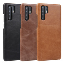 Vintage Matte Genuine Leather Case For Huawei P30/ Pro Back Cover P30 Phone Coque Housing Bag