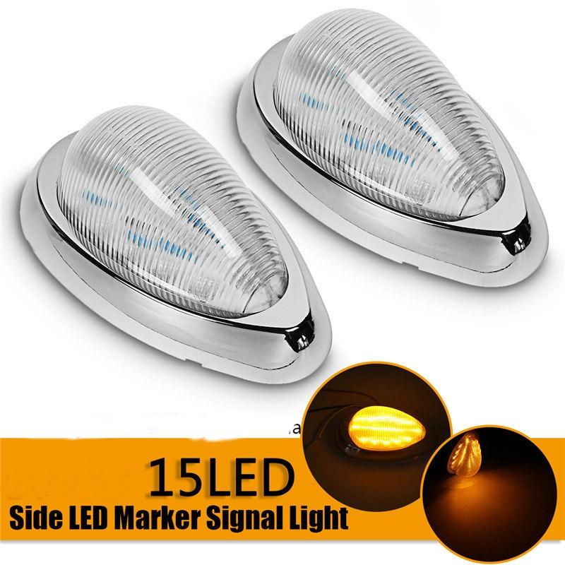 2pcs 12V 15 LED Car Side Marker Turn Signal Light Clearance Lamp LED Car Roof Dome Light Warning Lamp for Truck Trailer bus SUV бензопила stihl ms 362 c mvw 18