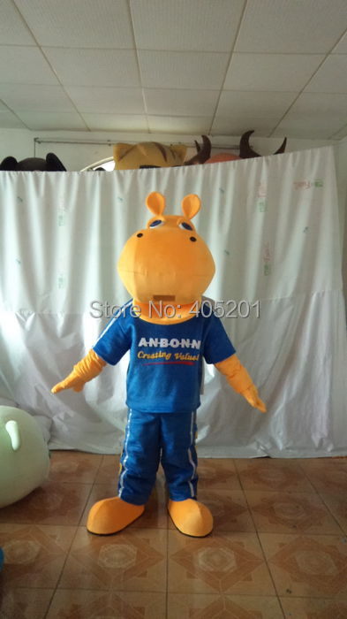 new walking disguise custom hippo mascot costumes sport suit