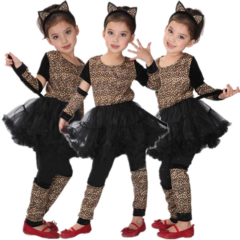 Childrens Leopard Fancy Dress Costume Jungle Animal Outfit 2-3 Yrs