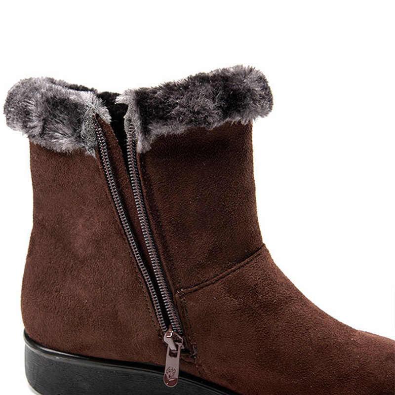 Kadın botları kış ayakkabı kadın kar botları sıcak kürk kama kadın yarım çizmeler moda kadın kış çizmeler kadın ayakkabıları Bota kadınlar