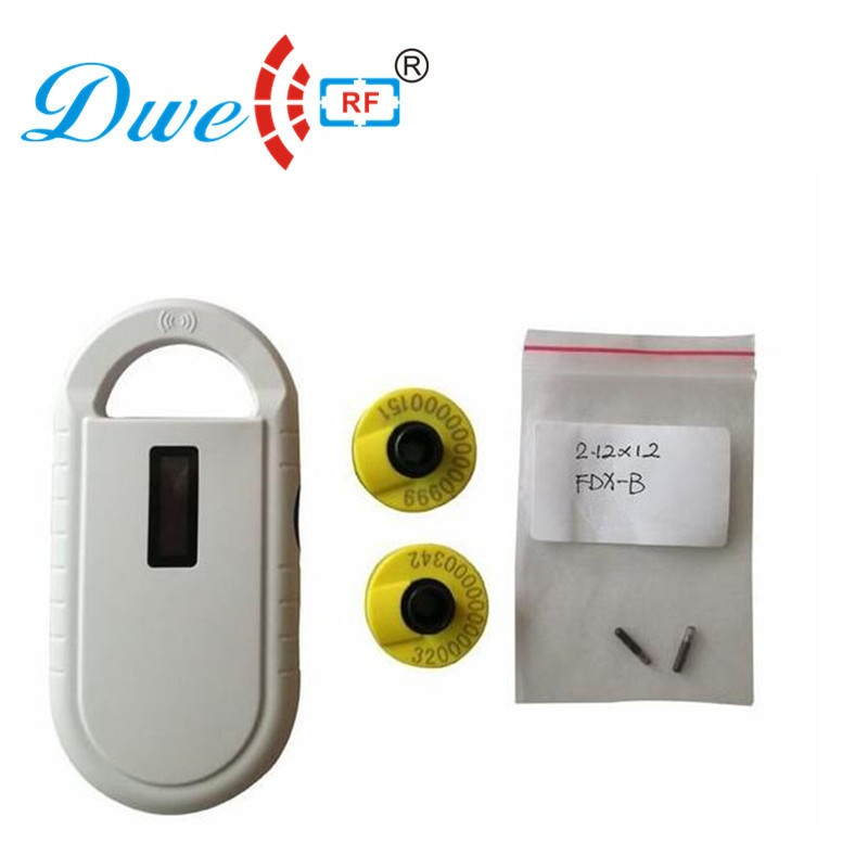 rfid long range id scanner dog cattle animal pet chip chip reader 134.2khz rfid tag readers PT160 with 2 eartags and 2 glass tag cattle id tracking reader pet microchip rfid scanner animal glass tag with 2pcs transponder chip syringe 2 12 12mm