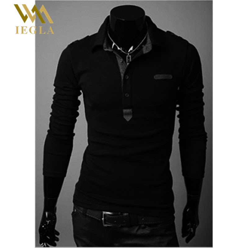 Men Polo Shirt Camiseta Masculina Fashion Autumn Winter Slim Fit Polo Men Long Sleeve Cotton Casual Polos Embroidery Shirt Mens