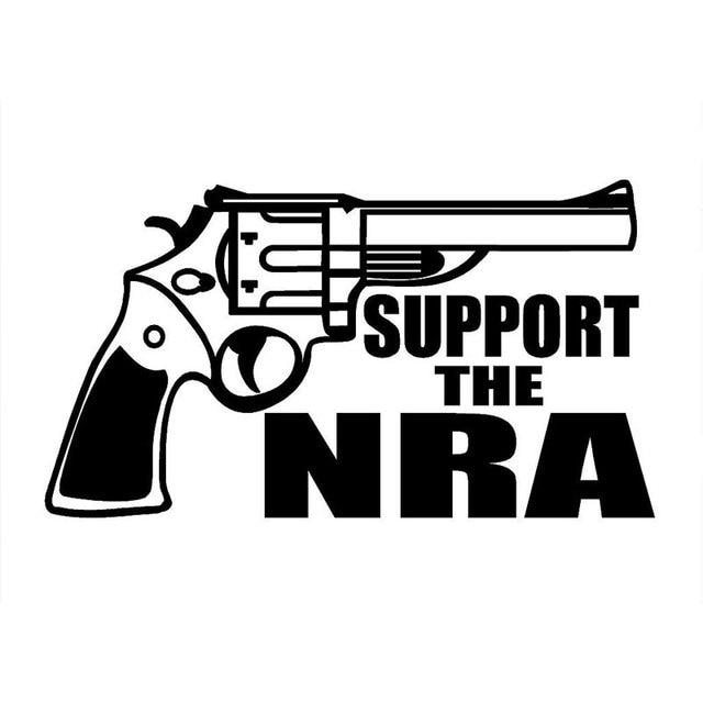 17 9cm 10 2cm support the nra decal hand gun firearm car vinyl