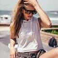 Verão New Arrivals Moda sólidos Com Capuz Casual Parte Superior Do Tanque de musculação Aptidão das mulheres Parte Superior Do Tanque 63 #