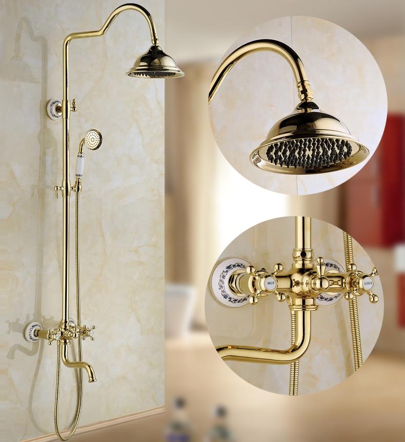 Xogolo Настенный осадков Насадки для душа Системы, смеситель для душа 8 дождь Showerhead, приходя с рук спрей, luxuery золото Цвет