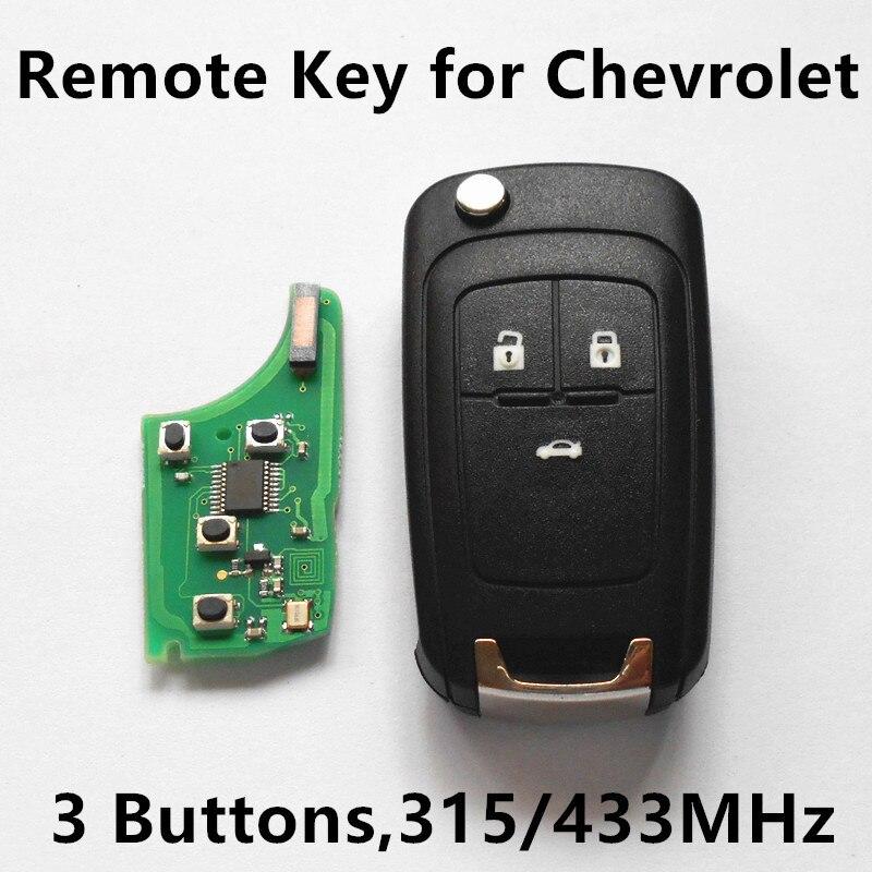 Prix pour À distance Clé 315 MHz 433 MHz pour Chevrolet Malibu Cruze Aveo Orlando Camaro Flip Voiture D'entrée Sans Clé À Distance Clé