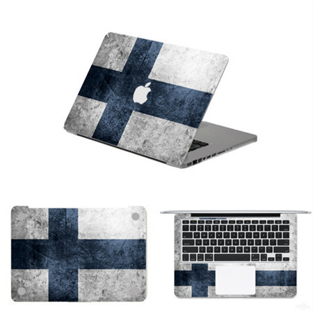 Vintage finland flag full body vinyl laptop decal stickers for apple macbook air pro retina 11
