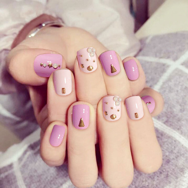 Vieschen nude color fake nail art decoration diy manicure pink vieschen nude color fake nail art decoration diy manicure pink color false nail tips short fake prinsesfo Gallery