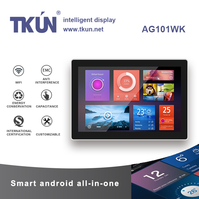 TKUN 10.1 Inch Capacitive Multi-touch All-in-one Machine, Android All-in-one. Industrial And Commercial Outdoor Display AG101Wk