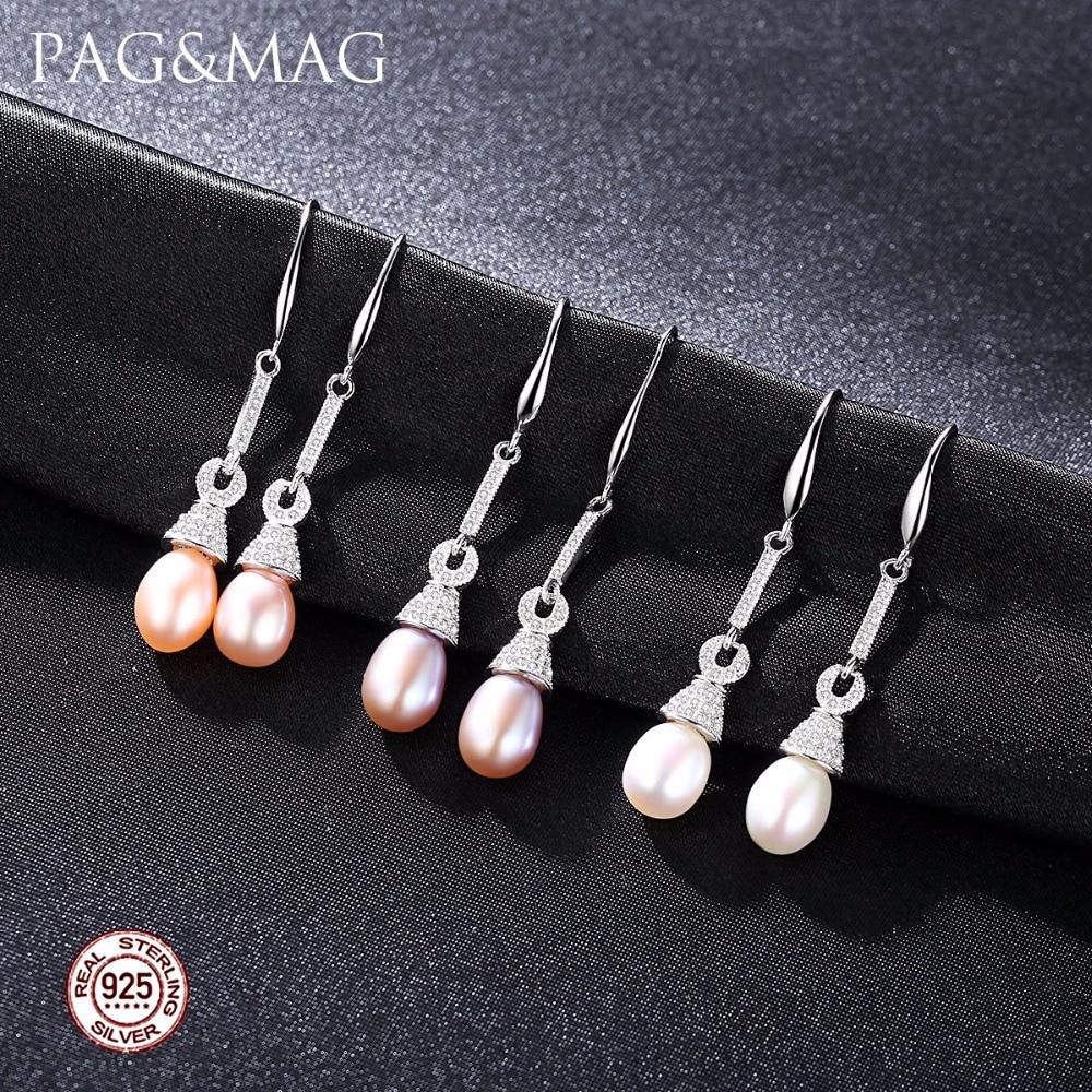 PAG & MAG Marque S925 Boucles D'oreilles en Argent Sterling avec - Bijoux - Photo 2