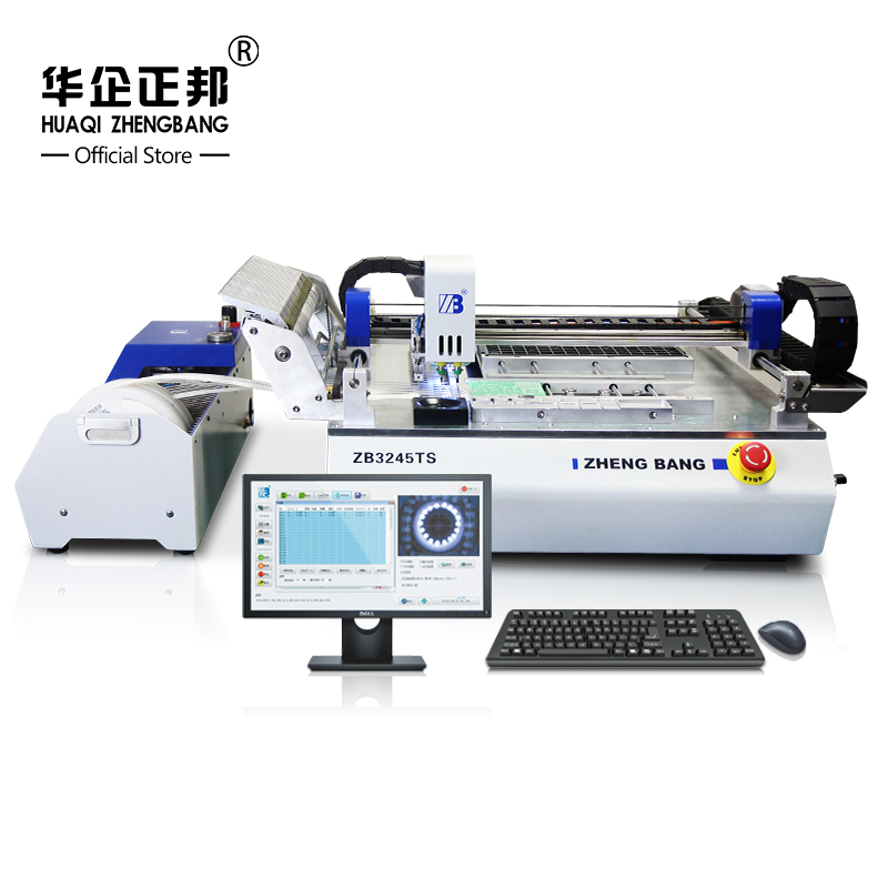 Full Automatic 2 Heads SMT Pick and Place Machine With Visual / Pick And Place SMT Mounting Machine Free Shipping