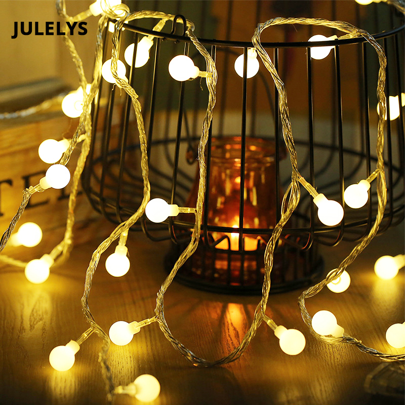JULELYS 30M 300 Bulbs Ball Garland Christmas LED String Light Outdoor - Holiday Lighting