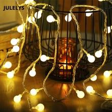 JULELYS 30M 300 נורות כדור גרלנד חג המולד LED מחרוזת אור חג המולד יום הולדת Gerlyanda אורות קישוט לחתונה