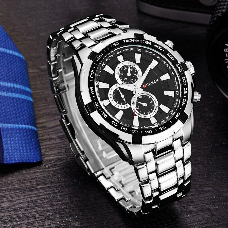 CURREN montres à quartz pour homme Top Marque De Luxe Hommes Militaire montres-bracelets En Acier Plein Hommes Sport montre résistante à l'eau Relogio Masculino