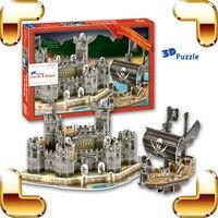 New Arrival Gift Pirate Ship Castle 3D Puzzle Model Building DIY Ship Decoration Puzzle Game Education