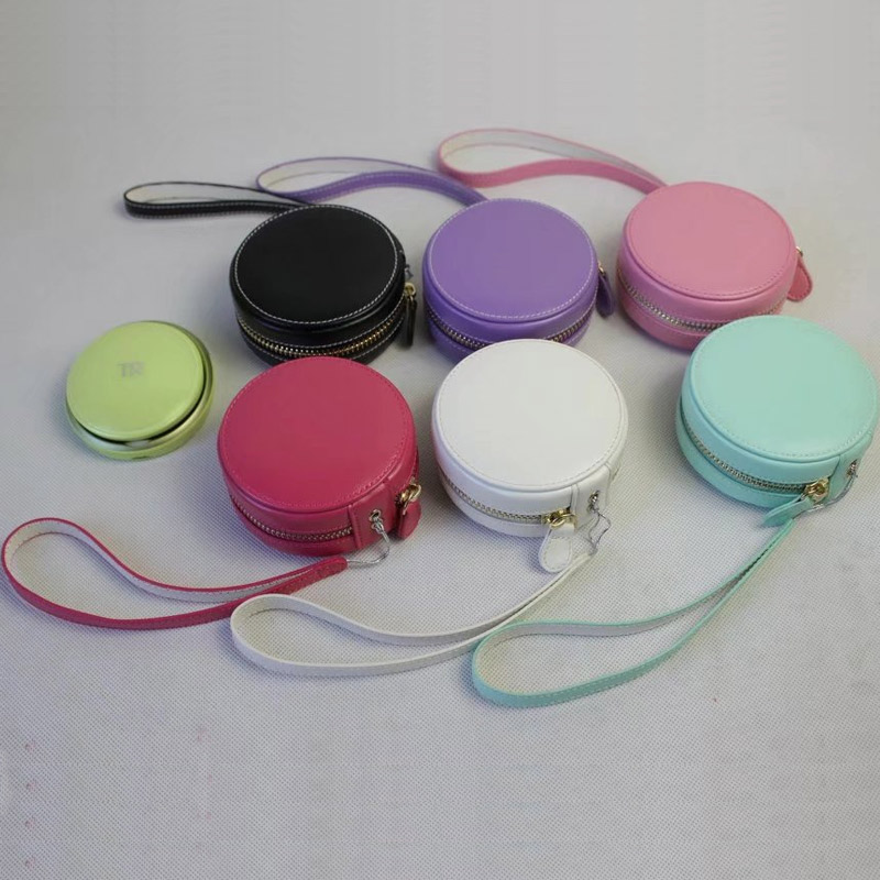 Colorful Circle Camera Bag Cover Case For Casio TR M11 TR Mini Selfie shoot camera With Hand Strap|Camera/Video Bags|Consumer Electronics - title=