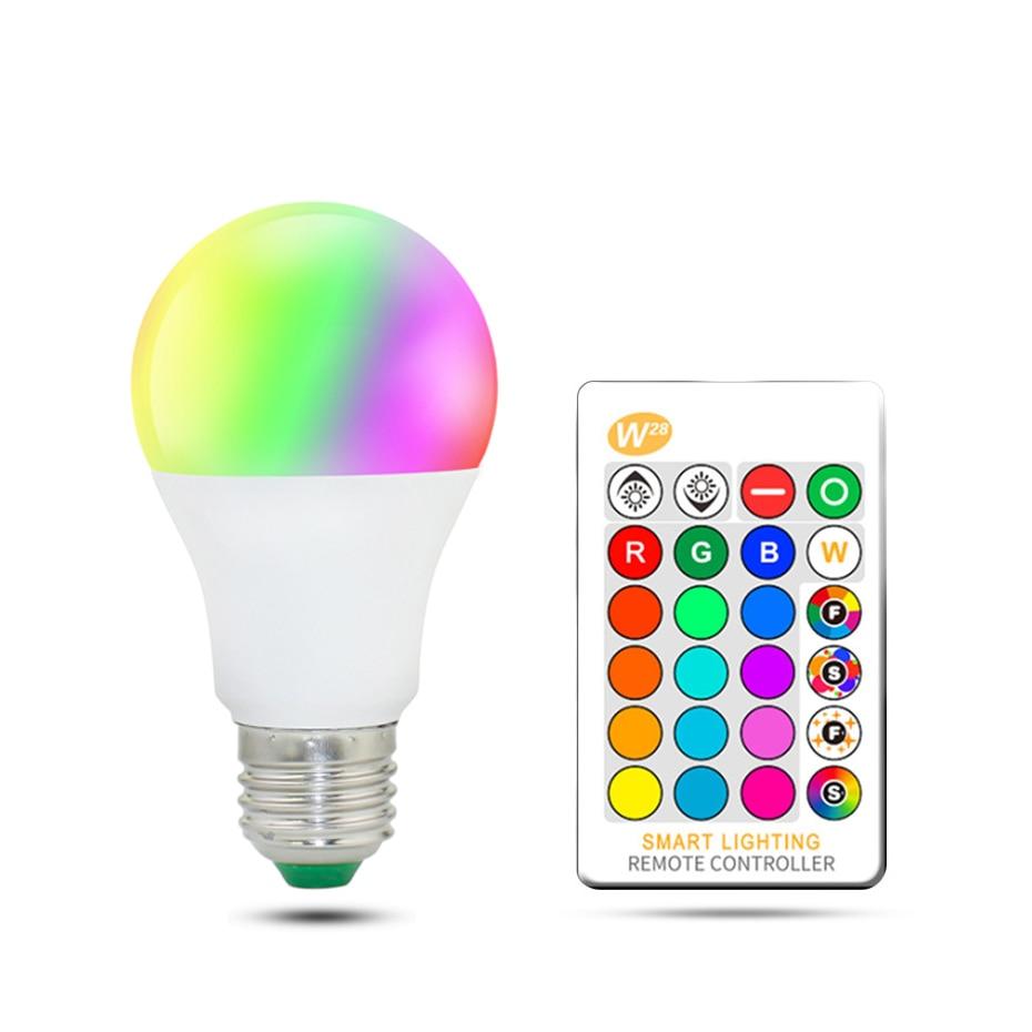 5w RGB LED Bulb 10w 15w RGBW RGBWW LED Lamp Dimmable Wireless Spot Lampada LED 16 Colors Holiday Decorate AC110V 220V led light zigbee bridge led rgbw 5w gu10 spotlight color changing zigbee zll led bulb ac100 240v led app controller dimmable smart led
