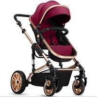 2017 popular design baby stroller High View Prams baby bassinet with adjustable handle
