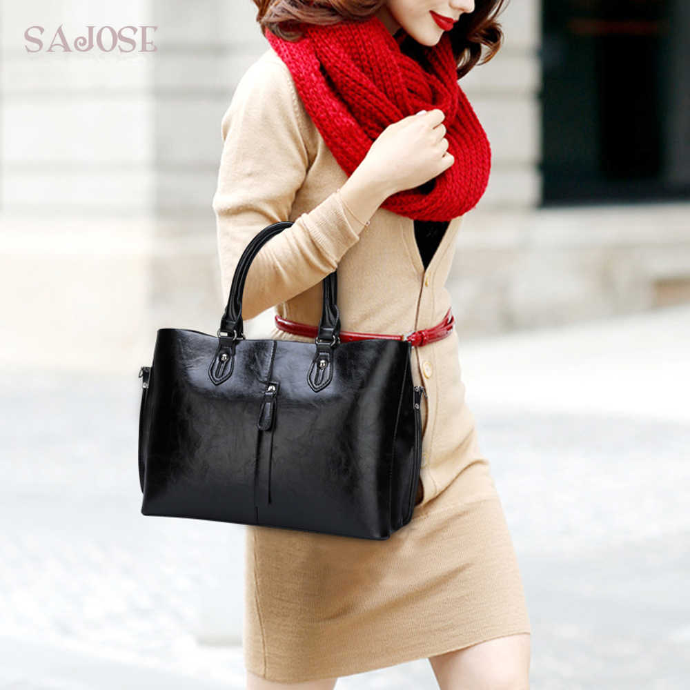 Kadın Casual Tote Çanta Tasarımcısı Marka Klasik Sadelik Iş OL Deri Çanta Kadın Çanta Bayan Postacı omuz çantaları