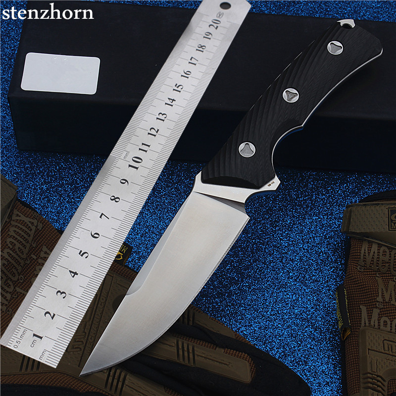 Stenzhorn New Goods Wei Explorer Outdoor Small Straight Knife Self-defense Survival Camping with High Hardness for Sharp Fruit new outdoor browning small straight knife 5crmov15 blade diving knife switzerland army knife camping straight knife