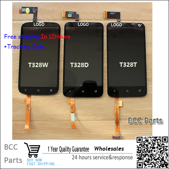 BEST quality Original LCD display touch screen digitizer For HTC desire V T328W/T328D/T328T with LOGO & tracking number