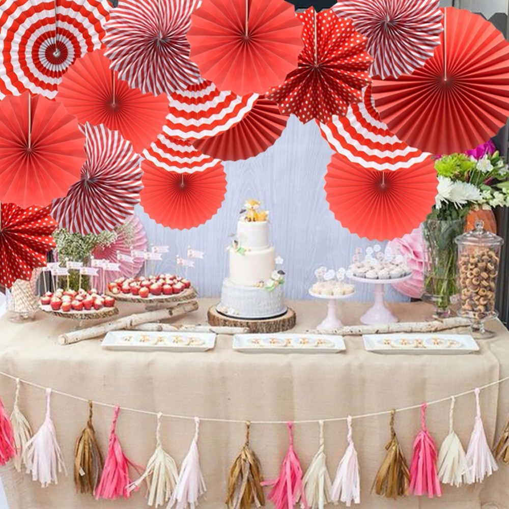 Tissue Paper Fans Party Fans Paper Garlands Hanging For Kids Birthday Wedding Party Baby Shower Graduation Decoration