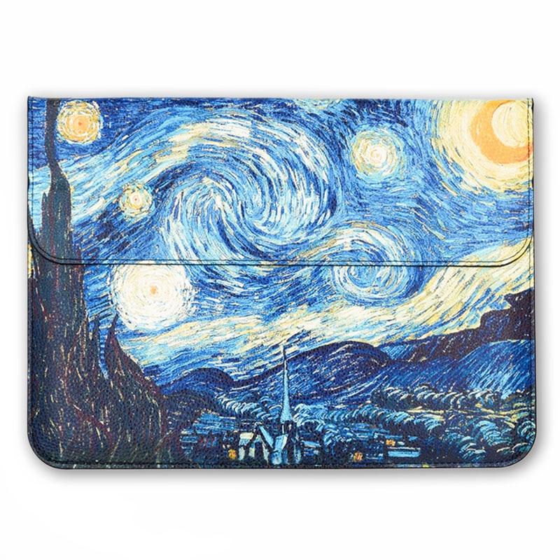 Blaue Van gogh Hülse Abdeckung für Macbook 12 zoll, Air 13,3, Pro 13,3, retina-bildschirm, notebook computer reise tragetasche, laptop fall