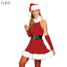 c6a1475a198 TaFiY New Sexy High Quality Xmas Costume Adult Women Santa Cosplay Party  Costume Red Fancy Dress Christmas Costumes For Women