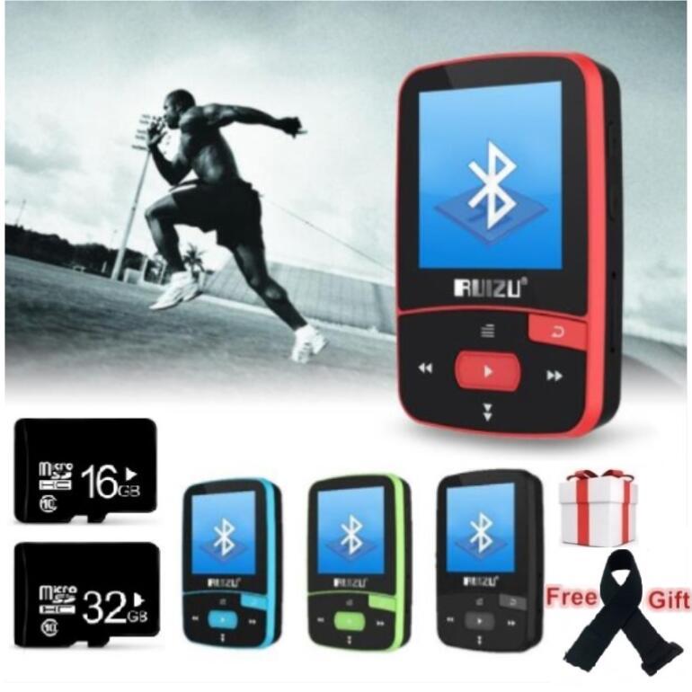 Mp3-Player Recording 8GB-CLIP Bluetooth Sport Mini Ruizu X50 Pedometer E-Book with FM