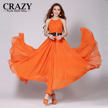 2018 M-6XL Women Clothing Summer Chiffon Bohemia Maxi Dress Ladies Long Beach White Dresses