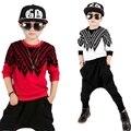 Nuevo Bebé Ropa para Niños Set Niños Deportes Traje Niños Chándal Niñas Harlan Pantalones de Hip Hop Sudadera Casual Sistemas de la Ropa de Moda